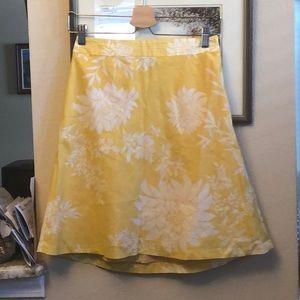 Ann Taylor Pretty A-line skirt size 00
